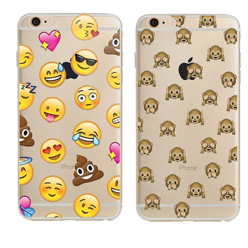 Lovely Funny Emoji monkey For iPhone X 8 4 4S 5 5S SE 5C 6 6S 7 Plus Case For Xiaomi Redmi 4 4A 3S 3 S 4X Note 3 4 Pro Prime 4X