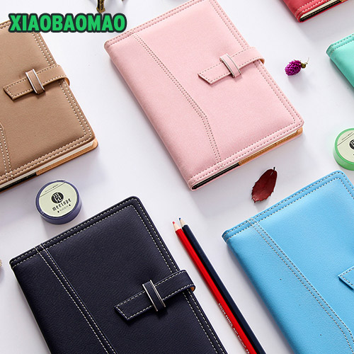 Makaleon leather notebook DIY diary / daily planner / agenda organizer cute Japan fashion stationery A6 A5 B5 school supplies cartoon cat cute notebook leather notebook personal diary agenda organizer binder daily weekly planner travel notebook school