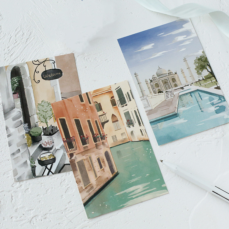 30 Pcs/set Beautiful Scenery Postcard Greeting Card Message Card Birthday Card Gift Cards