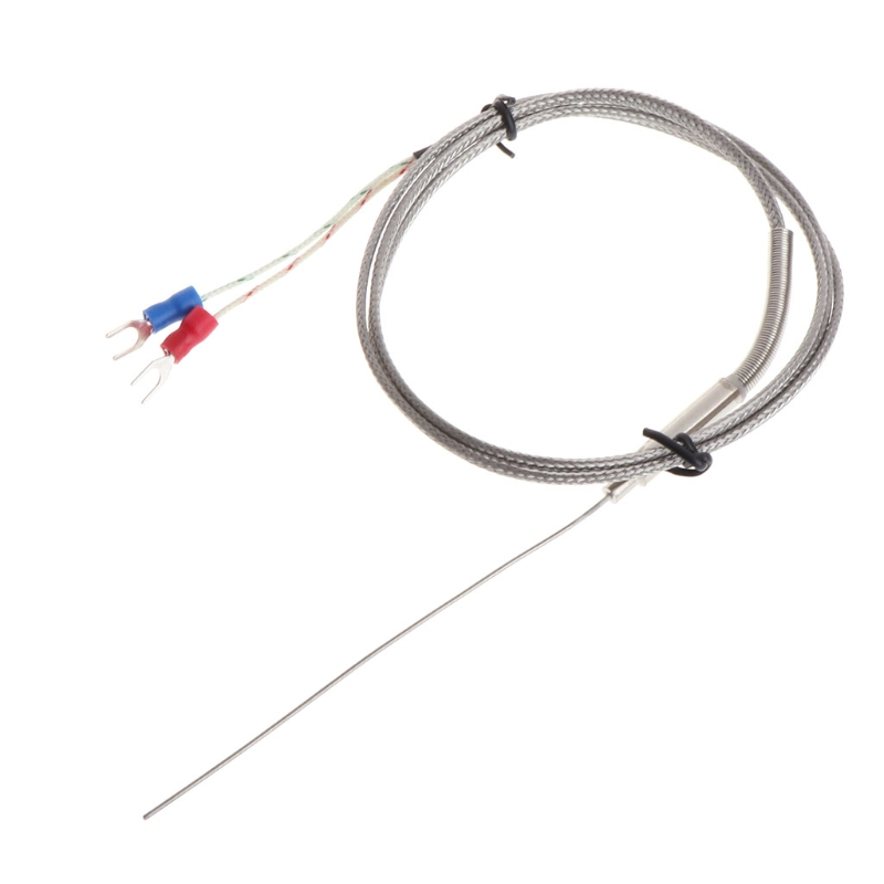 k type thermocouple probe 1mm x 100mm 2 wires temperature sensors 2 terminals 1m ls u0026 39 d tool