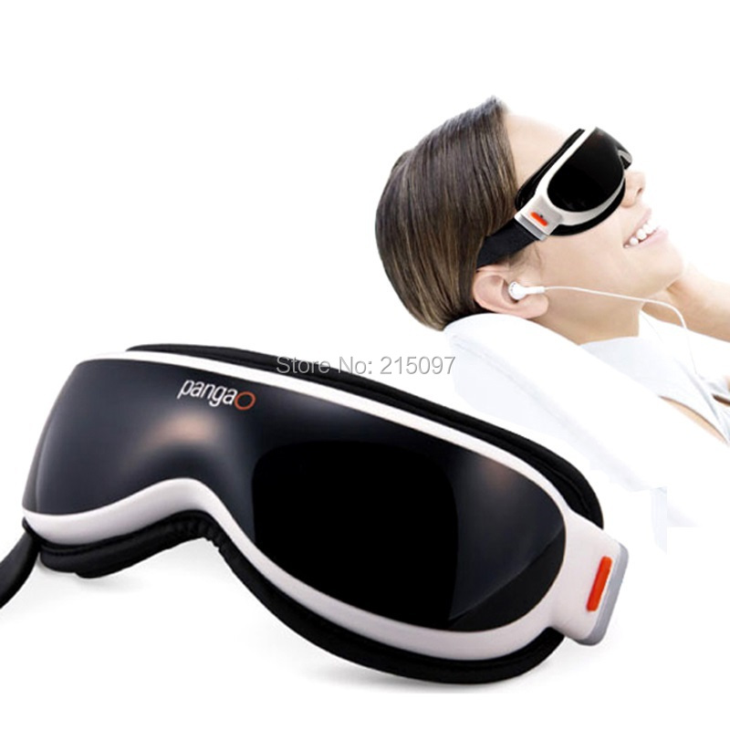 air pressure temple tens therapy eye massager glasses mask simulating vibrating massage for brachymetropic pain relief with MP3