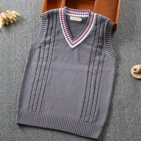 Japanese School Uniform Sweaters Nakamura Women Girls Twisted Pullover Sweater Vest Stripes V Neck Sleeveless Knitting Waistcoat