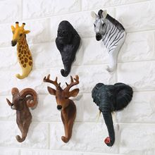 Creative Decoration Hook American Retro Cafe Bar Shop Wall Three-dimensional Animal Wall Hanging