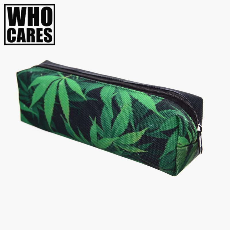 Space weed green 3D Printing pencil case women cosmetic bag fashion who cares school bags organizer pouch travel neceser makeup рубашка в клетку insight fred sonic weed green