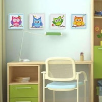 Cutiepop House Decorated DIY Night Owl Children 5D Diamond Embroidery Wooden Frame Diamond Painting Cross Stitch Animal T057