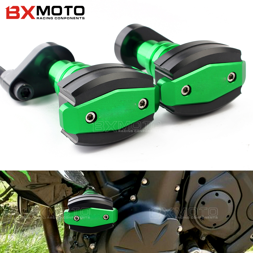 For kawasaki ninja650 ER6N ER6F 2012-2015 2016 Motorcycle Accessories Cnc Frame Sliders Falling Protection Anti Crash Pad Sides цены онлайн