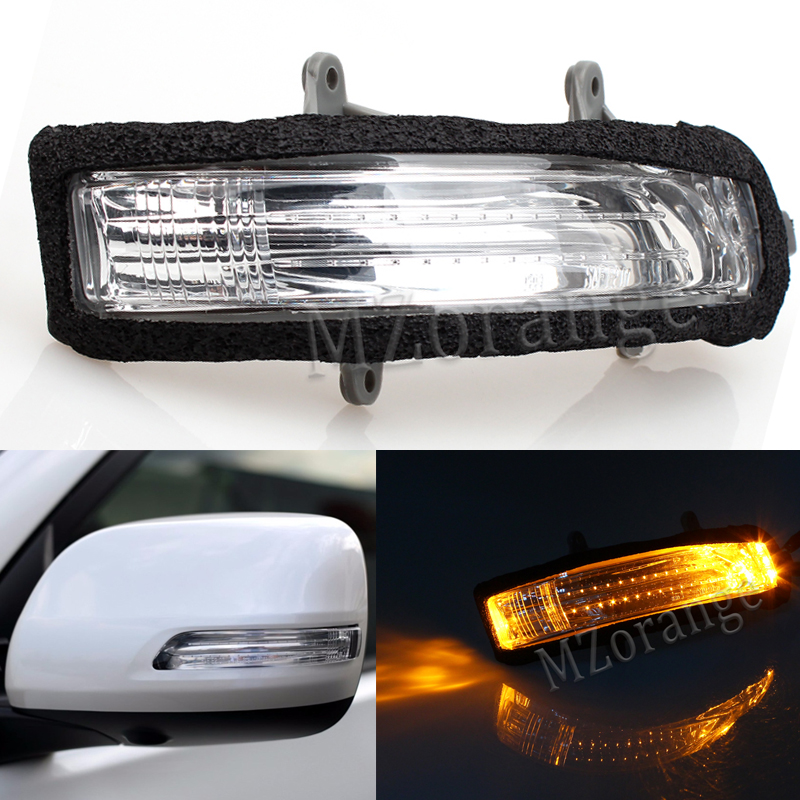 MZORANGE Car Left & Right Rear View Rearview Mirror LED Turn Signal Light Lamp For TOYOTA LAND CRUISER PRADO 2010-2016 right left side rear view mirror led