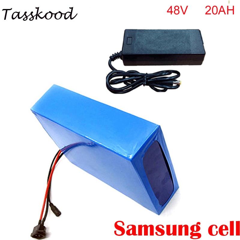 Batterie de vélo électrique 1000w 48v batterie/48 V 20Ah pour 48v Bafang/8fun 1000 w/750 w moteur d'entraînement central/central avec BMS et chargeur