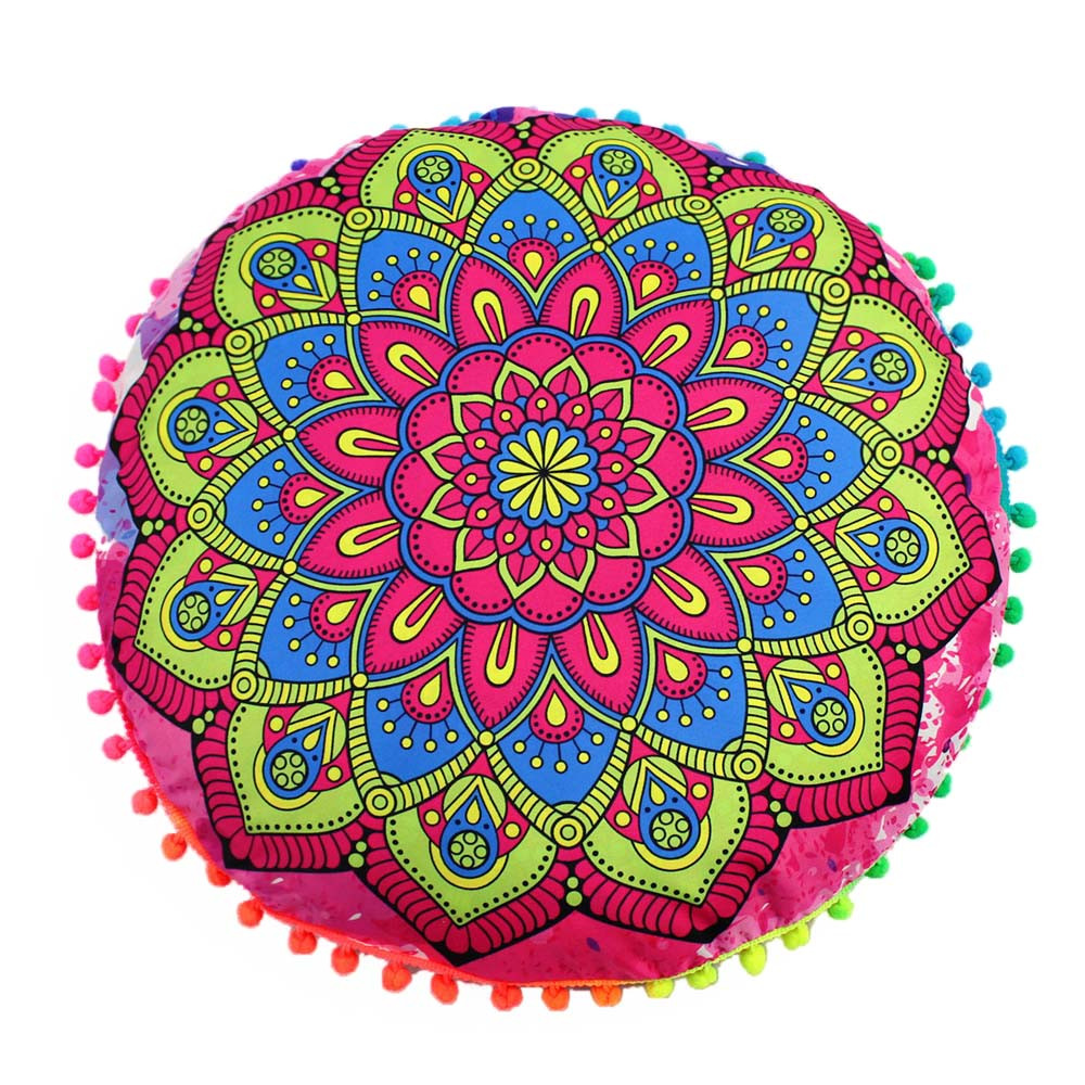 Betrouwbare Indian Mandala Floor Kussens Ronde Bohemian Kussen Kussens Cover Case Kussens Kussen Case Bed Decoratieve Pillow52