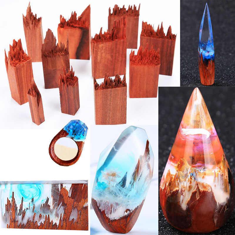 2020 جديد الطبيعية الدم خشب الصندل المجففة زهرة الراتنج الزخرفية الحرفية DIY بها بنفسك قلادة عصابة ختم المشهد الصغير جعل للمجوهرات
