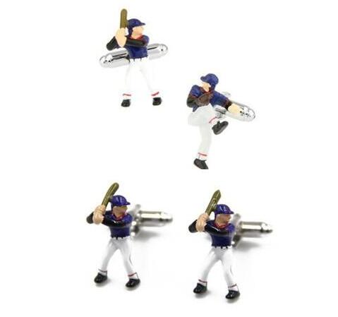 10Pairs/lot Novelty Sport Baseball Player Cufflinks Copper Plating Cuff Links Men's Jewelry Casual/Party