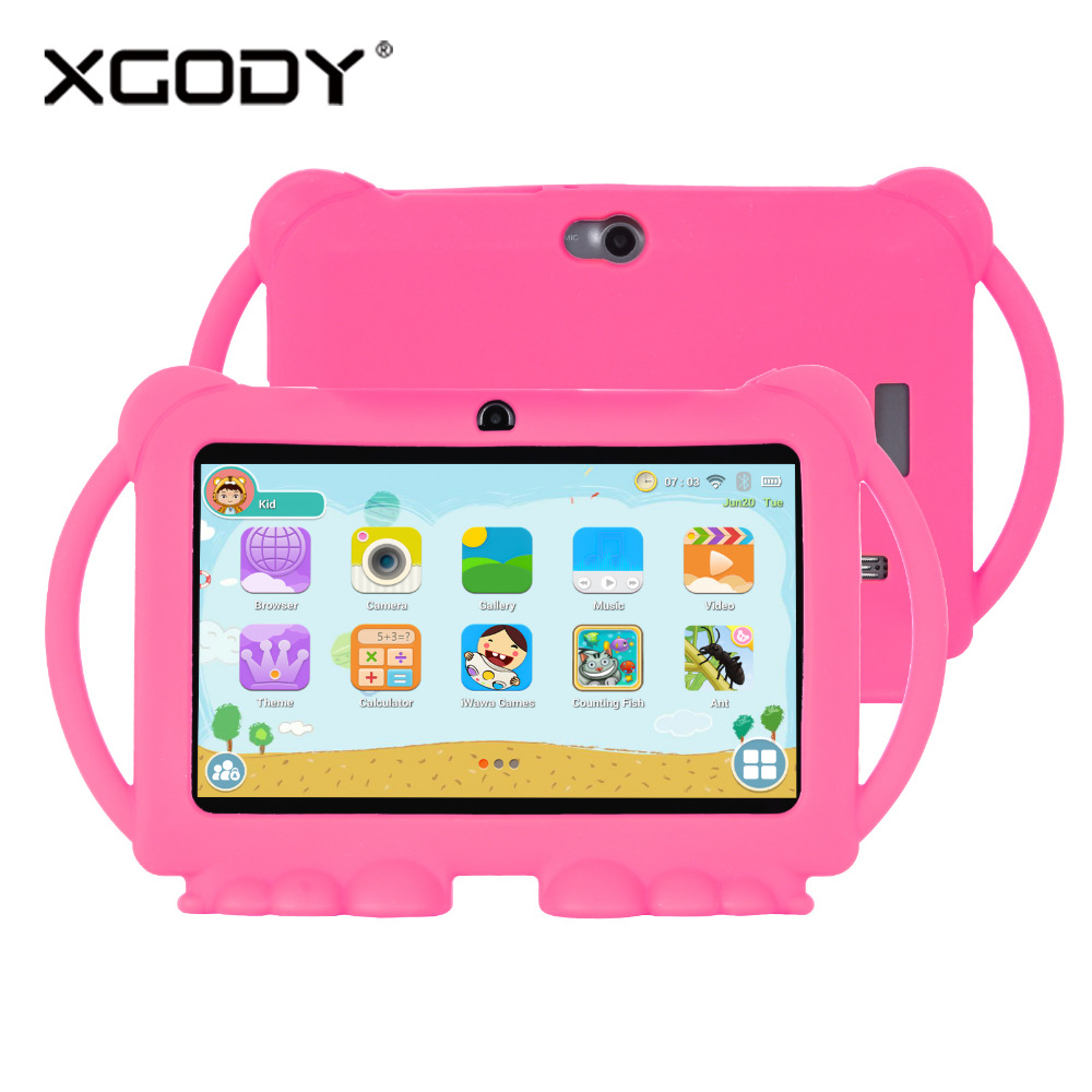 Kids Tablet PC 7 Inch Android 8.1 Tablet Quad Core 1G+8GB 1024*600 Screen Children Education Games Shipping from US