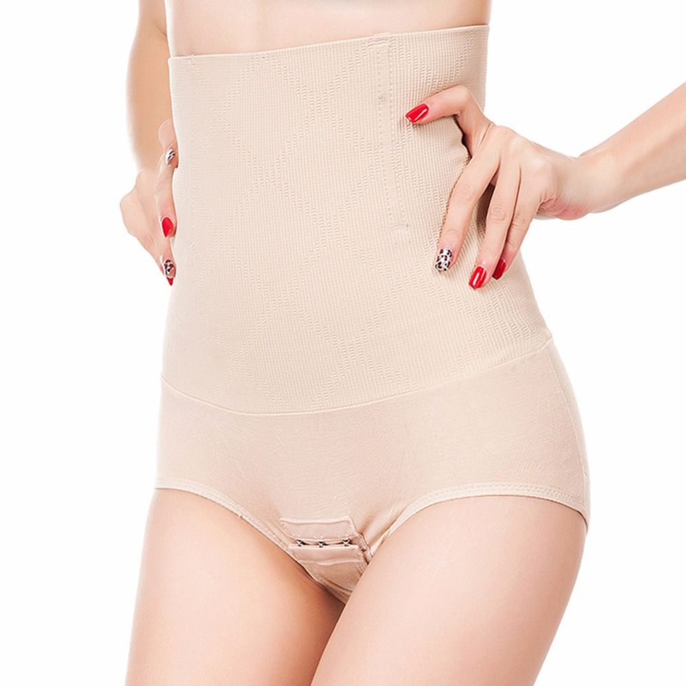 ee3d775d3b657 High Waist Shape Pants Women Body Shaper Hooks Sexy Slimming Shapewear  Underwear Fat Burning Slim Panties Shaper Control Briefs-in Control Panties  from ...