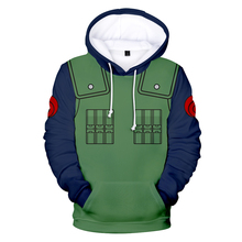 Hot Anime Naruto Hoodies  Sweatshirts  Boy/Girl  Leisure Long Sleeve Sweatshirt 3D Naruto Kakashi Printing Hoodies