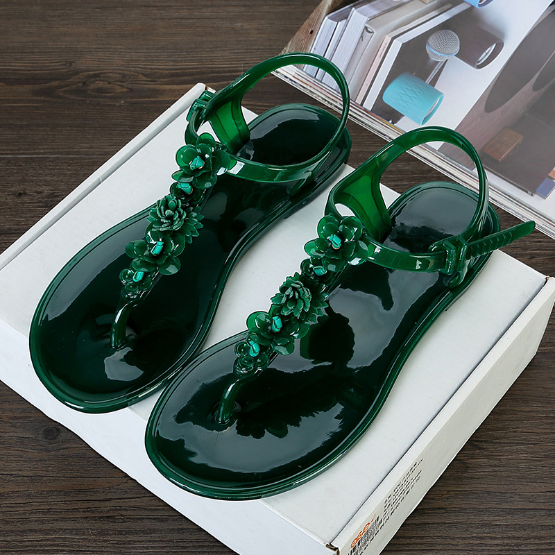 LALA-IKAI-flip-flops-sandals-women-flat-sandal-summer-Beach-Slippers-with-flower-Solid-Casual-Jelly