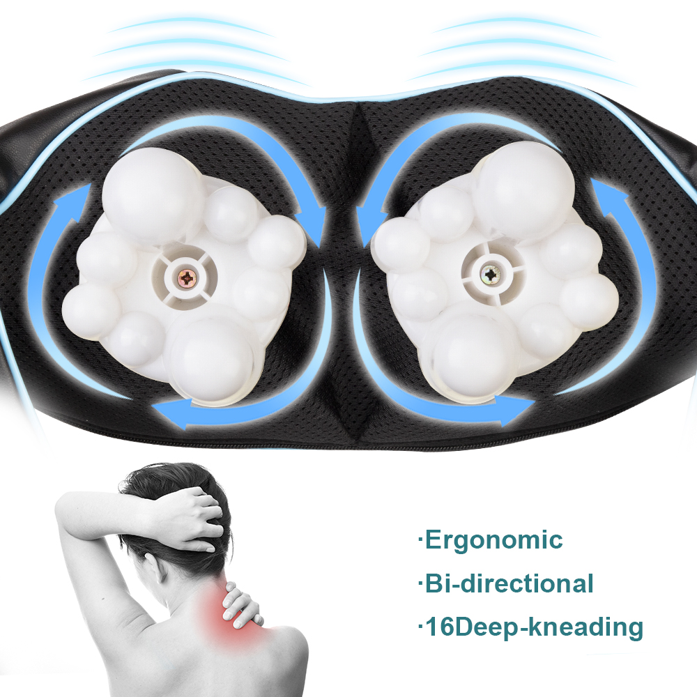 Image 4 - (with gift box)LaGuerir Home Car U Shape Electrical Shiatsu Back Neck Shoulder Body Massager Infrared Heated Kneading  Massagem-in Massage & Relaxation from Beauty & Health