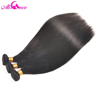 Ali Coco Peruvian Straight Hair 100 Human Hair Weave Natural Black 10 28 Inch Free Shipping