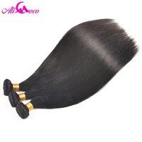 Ali Coco Peruvian Straight Hair 100 Human Hair Weave Natural Black 10 28 Inch Free Shipping