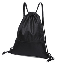 2018 Fashion Drawstring Bag black String Sack Beach Women Men Travel Storage Package Teenagers backpack plecak worek sznurek