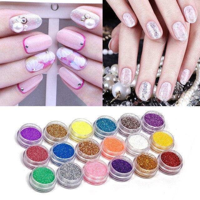 18 Kleurenset Nail Art Acryl Glitter Nail Art Tool Kit Acryl Uv