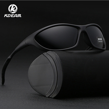KDEAM 2019 New Men Polarized Sunglasses Non-slip Silicone Rubber Sleeve Mens Sports Beach Shades Brand Designer KDs001