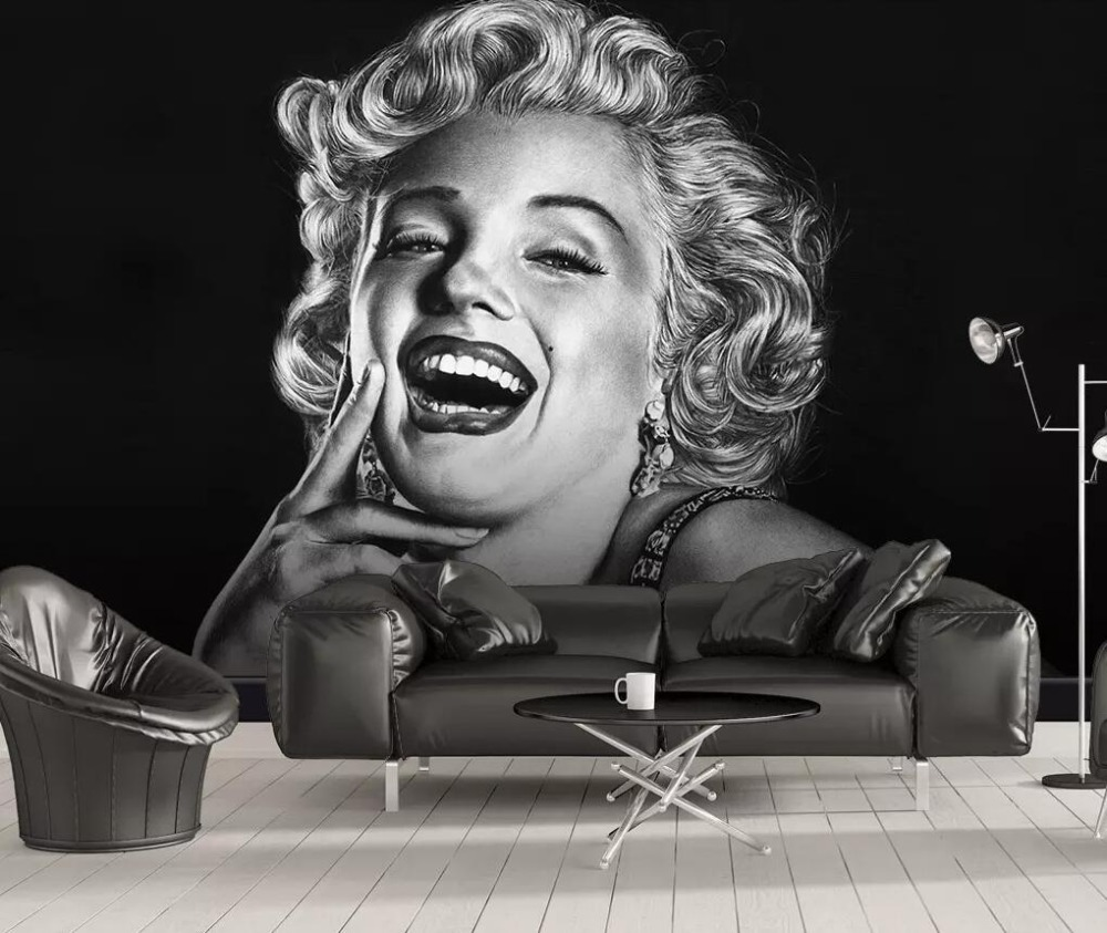 Modern Simple Marilyn Monroe Beauty Bedroom Background Wall Decoration Painting