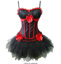 free shipping Hot Sexy Burlesques Strap Corset Dress Basques Skirt Lingerie  Plus Size S-2XL Corset with tutu skirts