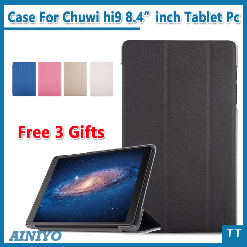 Newest Ultra Slim Case For CHUWI Hi9 Tablet PC Fashion Case For chuwi hi9 8.4 inch Tablet PC Protective Cover+Screen Film gifts tempered glass for chuwi hi9 pro 8 4 inch tablet pc screen protector film for newest chuwi hi9 pro