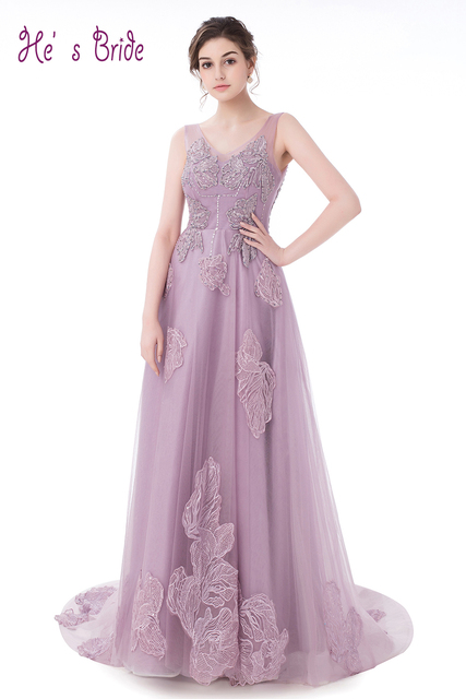 Vestidos de fiesta largos violeta