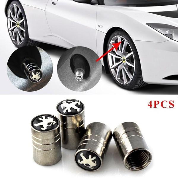 PEUGEOT BLACK GREY Plastic Wheel Valve Dust caps all models 7 colours 308 208