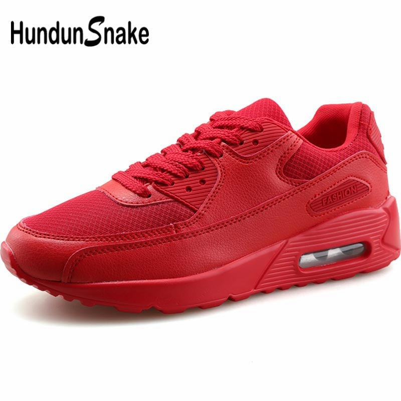 Hundunsnake Mesh Running Shoes For Men Sport Shoes Sports Man Sneakers Women Krasovki Men 2019 Summer Footwear Red Tennis B-039