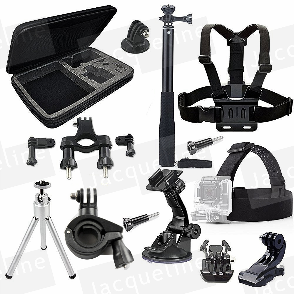 Accessories Kit Selfie for Gopro Hero 5 4 Session Black Silver Hero+ Lcd 3+ 3 2, GeekPro 2.0 3.0 4.0 SJ4000 SJ5000 SJ6000 H9R H9 ri 008 activity connection chain accessories for gopro hero 4 3 3