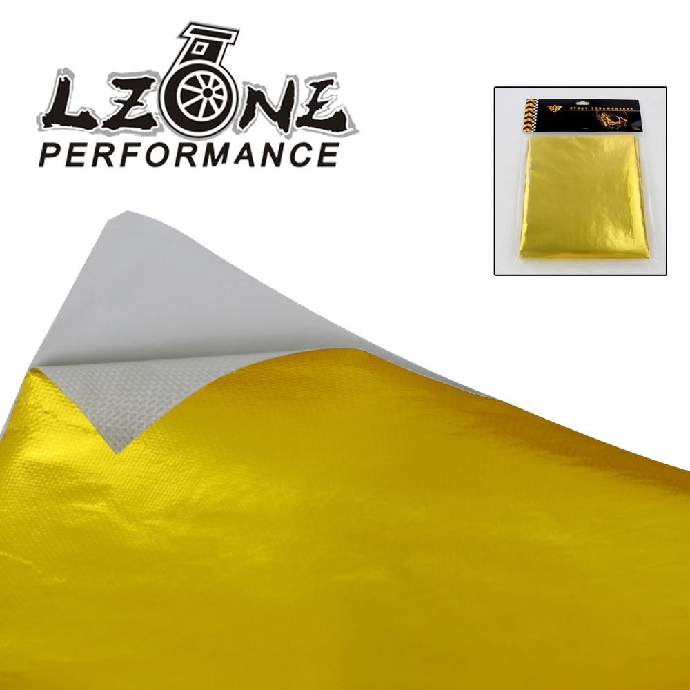 LZONE-AUTO-ADHÉSIF REFLECT-A-GOLD CHALEUR BARRIER WRAP Haute Qualité 39in. x 47in. pièce Pour VW PASSAT AUDI A4 B6 Avec PQY Carte