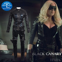 MANLUYUNXIAO женские черные костюм канарейки Dinah Laurel Lance косплей костюм для женщин Хэллоуин Карнавальный костюм на заказ