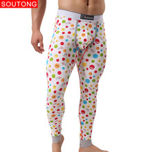 Soutong 2019 Winter Warm Men Long Johns Cotton Printed Men T