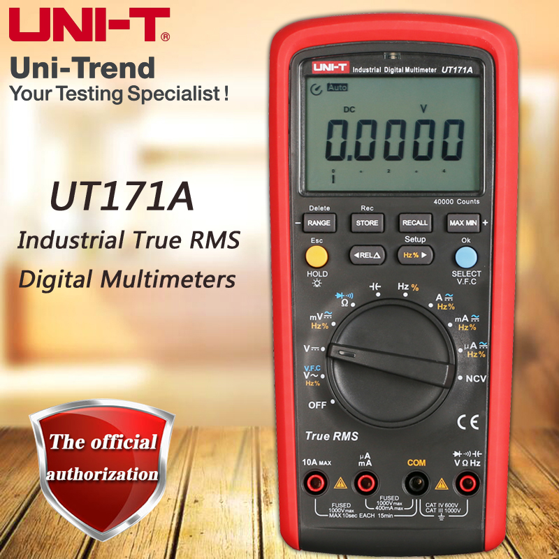 UNI-T UT171A Industrial True RMS Digital Multimeter / VFC / NCV Function / USB Communication / Data Storage