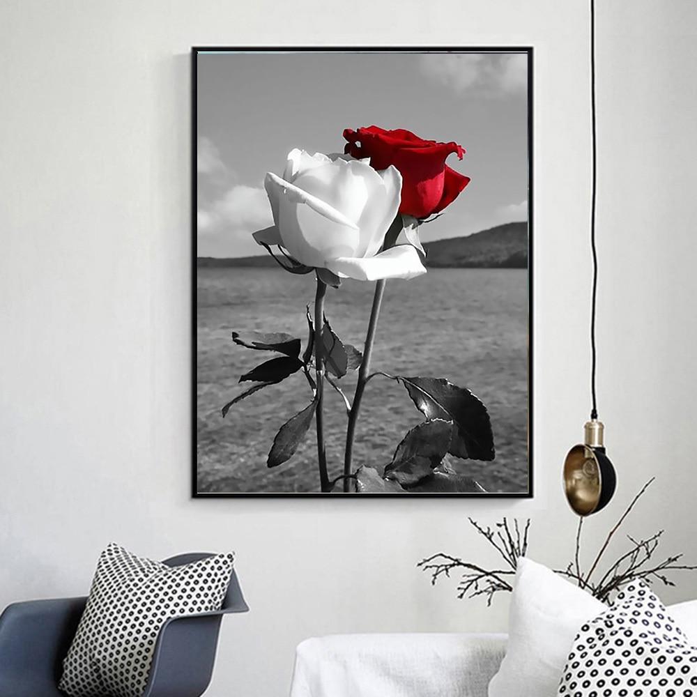 Huacan 5D DIY Diamantbroderi Full Square Flowers Patterns Rhinestones - Konst, hantverk och sömnad - Foto 3