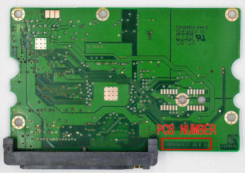 HDD PCB FOR SEAGATE/Logic Board/Board Number: 100406937