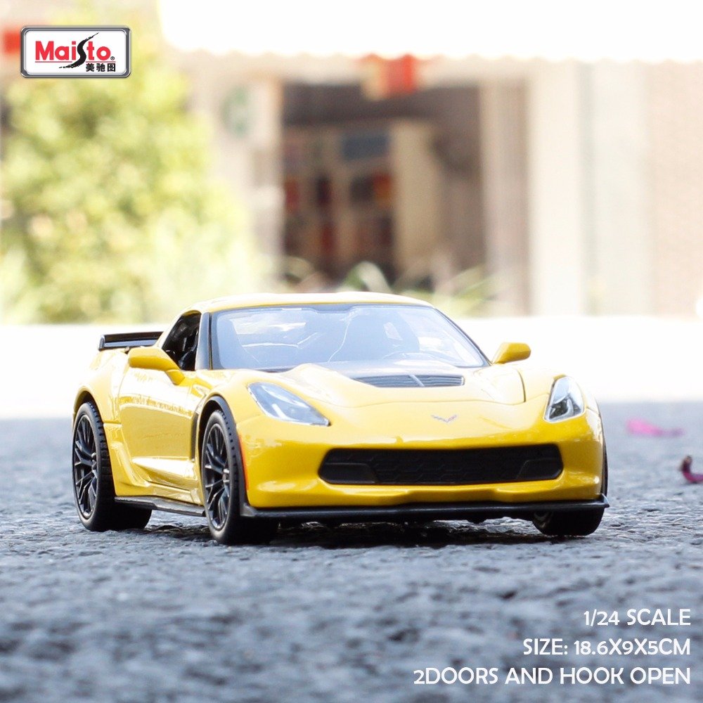 Maisto 1 24 scale metal automobile corvette z06 brinquedo menino toys for children boys hot wheels 2017