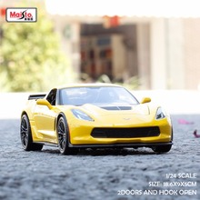 Maisto 1:24 Scale Metal Automobile Corvette Z06 Brinquedo Menino Toys for Children Boys hot wheels 2017