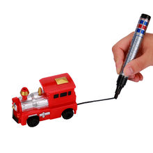 Sozzy Wind Up Toys Random Follow Any Drawn Line Magic Pen Truck Model Children Kids Toy Gift S#(China)