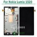 1 pcs para nokia lumia 1520 display lcd com tela de toque digitador assembléia com frame + ferramentas frete grátis
