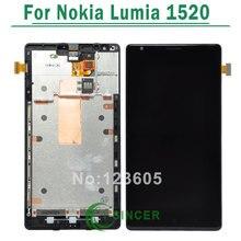 1 sztuk dla nokia lumia 1520 wyświetlacz lcd z ekranem dotykowym digitizer zgromadzenia z ramki + narzędzia darmowa wysyłka