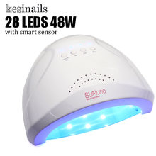 48W UV Lamp Nail Polish Dryer 28 LEDs Light 5S 30S 60S Drying Fingernail&Toenail Gel Curing Nail Art Dryer Manicure for Sunone(China)