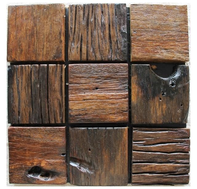 patrn de mosaico de azulejos rsticos textura de madera natural de madera azulejos de mosaico