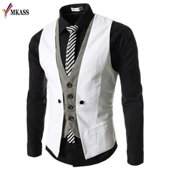 Vest Suit Waistcoats British Style Casual Blazer
