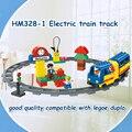HM328 Tren bloques Grandes Bloques de Construcción de Ladrillos autoblocante Juguetes Educativos Del Bebé Juguetes de Los Niños Regalo Compatible con Legoe duploe