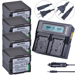 4Pcs VW-VBG260 VW VBG260 VW-VBG130 VW VBG130 Rechargeable Battery + Fast LCD Dual Charger for Panasonic HS250 SDR-SD7 HDC-MDH1(China)