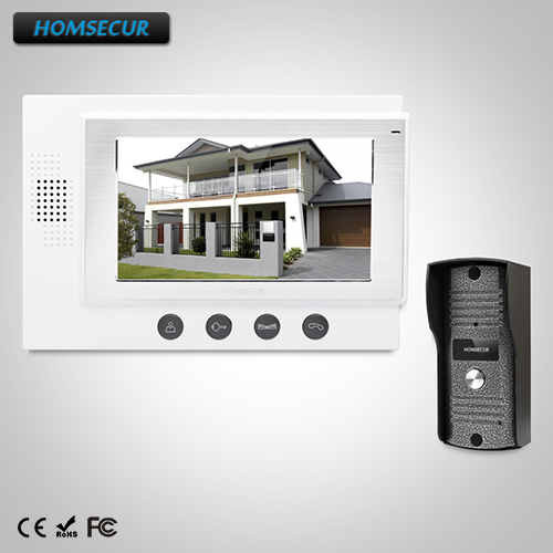 HOMSECUR 7 Hands-free Video Door Phone Intercom System+IR Night Vision: TC031 Camera + TM701-W Monitor (White)HOMSECUR 7 Hands-free Video Door Phone Intercom System+IR Night Vision: TC031 Camera + TM701-W Monitor (White)
