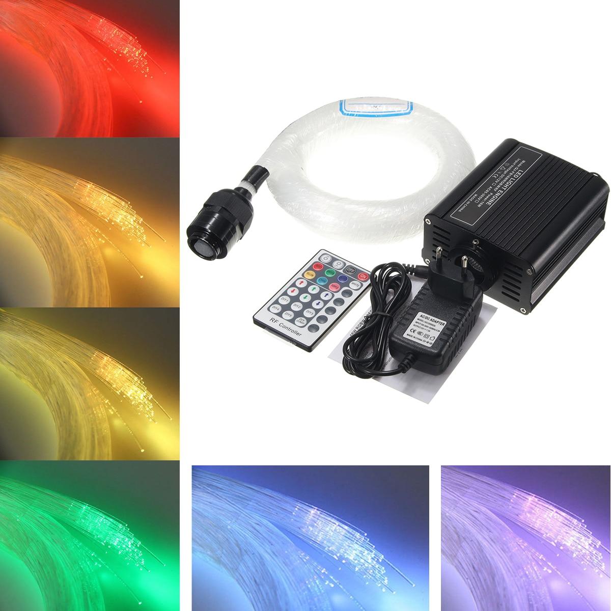 200Pcs 0.75mm X 2m Colorful Fiber Optic Lights  RGB Twinkle LED Star Ceiling Light Kit For Fiber Optic Light  Engine Machine